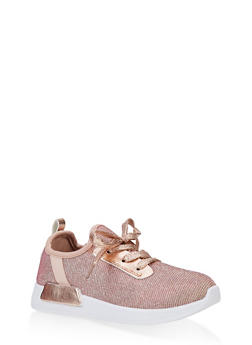 Girls 12-4 Knit Lace Up Sneakers | 3736062720074 - 3736062720074