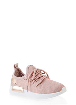 Girls 12-4 Shimmer Knit Athletic Sneakers - 3736062720075