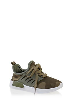 Girls 12-4 Camo Lace Up Sneakers - 3736062720076