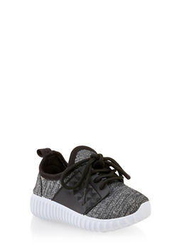 Girls 6-11 Glitter Knit Athletic Sneakers - 3736062720083