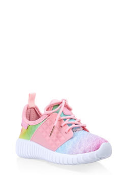 Girls 6-11 Athletic Knit Sneakers - 3736062720084