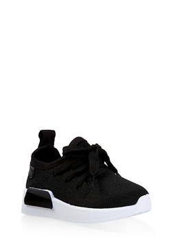 Girls 6-11 Athletic Shimmer Knit Sneakers - 3736062720086