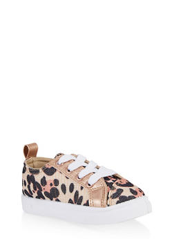Girls 6-11 Leopard Print Sneakers - 3736062720089