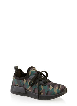 Girls 12-4 Camo Sneakers - 3736062720101