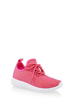Girls 12-4 Knit Athletic Sneakers | 3736062720102 - 3736062720102