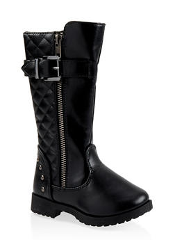 Girls 5-10 Tall Quilted Boots - 3736064790007