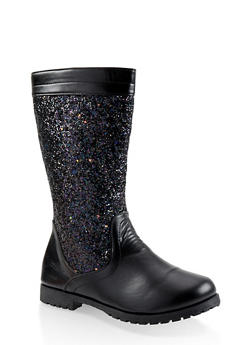 Girls 12-4 Glitter Riding Boots - 3736064790018