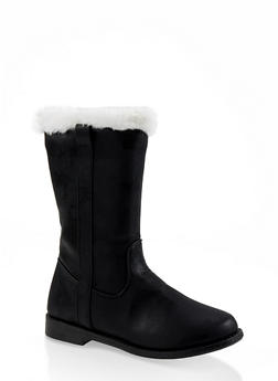 Girls 12-4 Faux Fur Trim Boots - 3736064790019