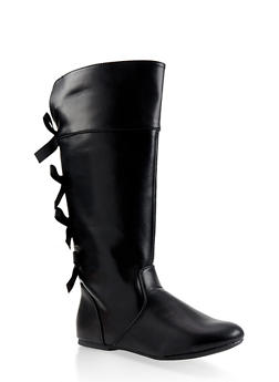 Girls 12-4 Tall Bow Detail Boots - 3736064790022