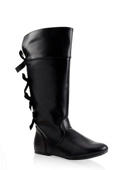 Girls 12-4 Tall Bow Detail Boots - 3736064790023