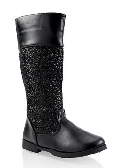 Girls 11-4 Glitter Riding Boots - 3736064790024