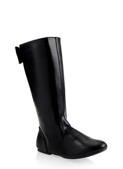 Girls 12-4 Tall Bow Detail Boots - 3736064790025