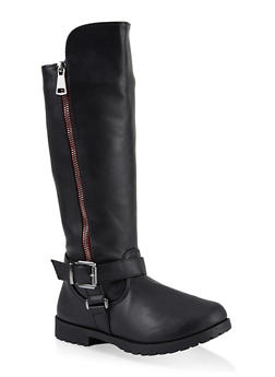 Girls 11-4 Tall Motorcycle Boots - 3736064790044