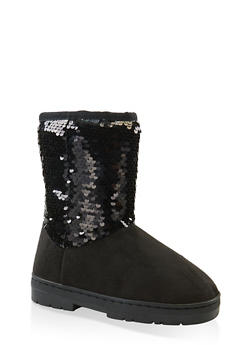 Girls 11-5 Reversible Sequin Boots | 3736068060093 - 3736068060093