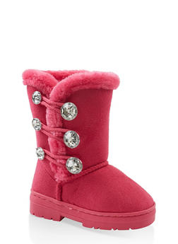 Girls 5-12 Faux Fur Lined Boots - 3736068060098