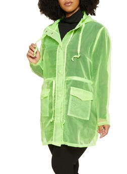 Hooded Organza Anorak Jacket - 3802062127500