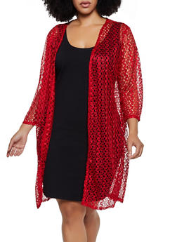 Plus Size Lace Duster   3802062705326 - 3802062705326