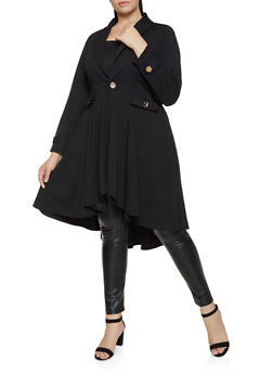 Plus Size Crepe Knit Jacket - 3802075221988