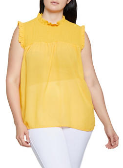 Plus Size Smocked Front Top - 3803038340621