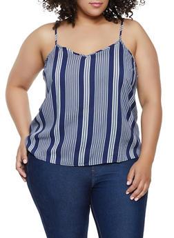 Plus Size Striped Cami - 3803051067680