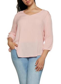 Plus Size Lace Yoke Top | 3803054268173 - 3803054268173