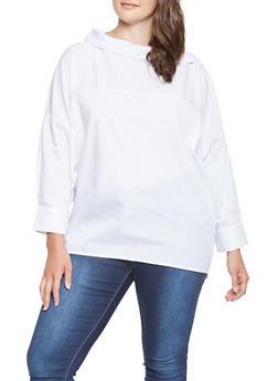 Plus Size Dolman Sleeve Top - 3803070932275