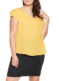 Plus Size Split Sleeve Blouse - 3803074280204