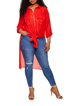High Low Plus Size Tunics