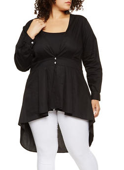 Plus Size High Low Shirt - 3803074282300