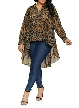 High Low Womens Plus Size Shirts