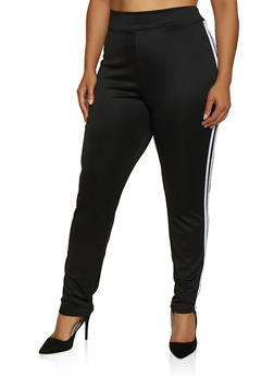 Plus Size Varsity Stripe Track Pants | 3850062126455 - 3850062126455