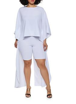 White Split Sleeve Top