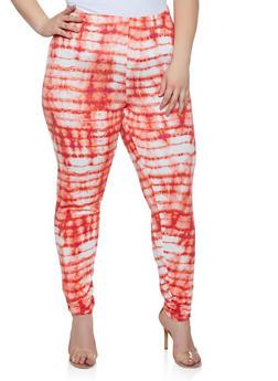Plus Size Tie Dye Leggings | 3850074287102 - 3850074287102