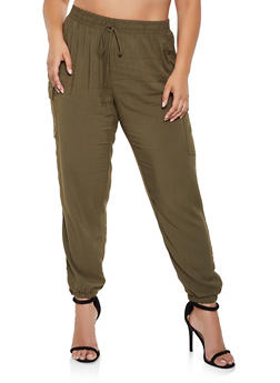 Plus Size Lightweight Cargo Pants - 3861051064118