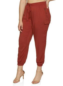 Plus Size Lightweight Cargo Pants - 3861051064118