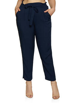 Plus Size Lightweight Trousers - 3861054264508
