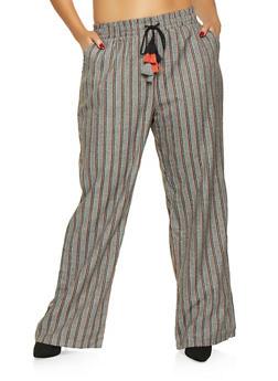 1f08115a05b Plus Size Striped Dress Pants - 3861060586643