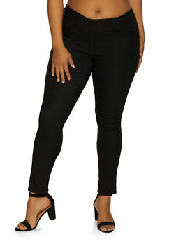 Plus Size Skinny Stretch Pants - 3861062707034