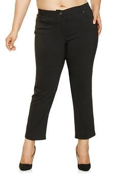 Plus Size Stretch Dress Pants - 3861074540963