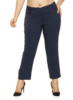 Plus Size Stretch Dress Pants - 3861074540963