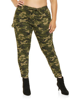 Plus Size Almost Famous Cargo Joggers - 3870015990004