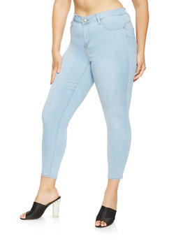 Plus Size Almost Famous Skinny Push Up Jeans - 3870015990040