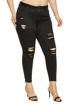 Plus Size Almost Famous High Waisted Skinny Jeans - 3870015990186