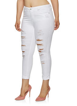 Plus Size Almost Famous Destruction Jeans - 3870015990385