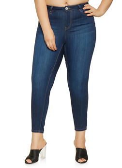 Plus Size Almost Famous Push Up Jeans - 3870015991040