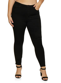 Plus Size Almost Famous Solid Push Up Jeans - 3870015994040