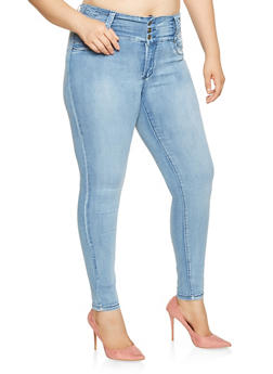 Plus Size Push Up Skinny Jeans - 3870041759741