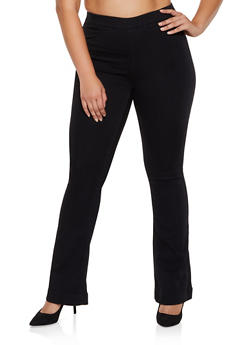 Plus Size Cello Flared Pull On Jeans - 3870063155173