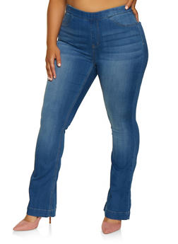 Plus Size Cello Flared Jeans - 3870063155324
