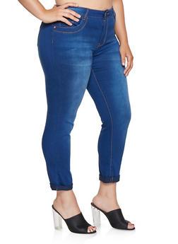 Plus Size VIP Push Up Skinny Jeans - 3870065300029